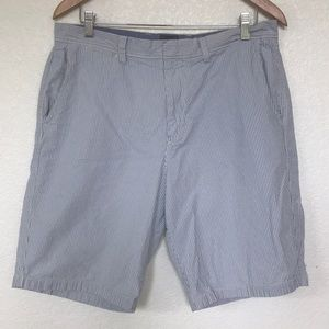 JCRew Seersucker Flat front shorts sz 34 waist